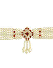 Red Colour Gold Finish Adorable Traditional Bajuband