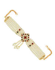Gold Finish Multi Colour Moti Armlet Bajuband  Fancy
