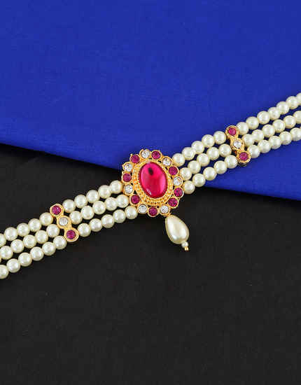 Maharashtrian Pink Colour Bajuband for Women