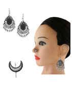 Silver Oxidised Finish Fashionable Combo Set Jewellery