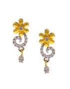Floral Design Gold Finish Designer Diamond Mangalsutra