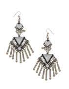 Silver Finish Earring For Navratri