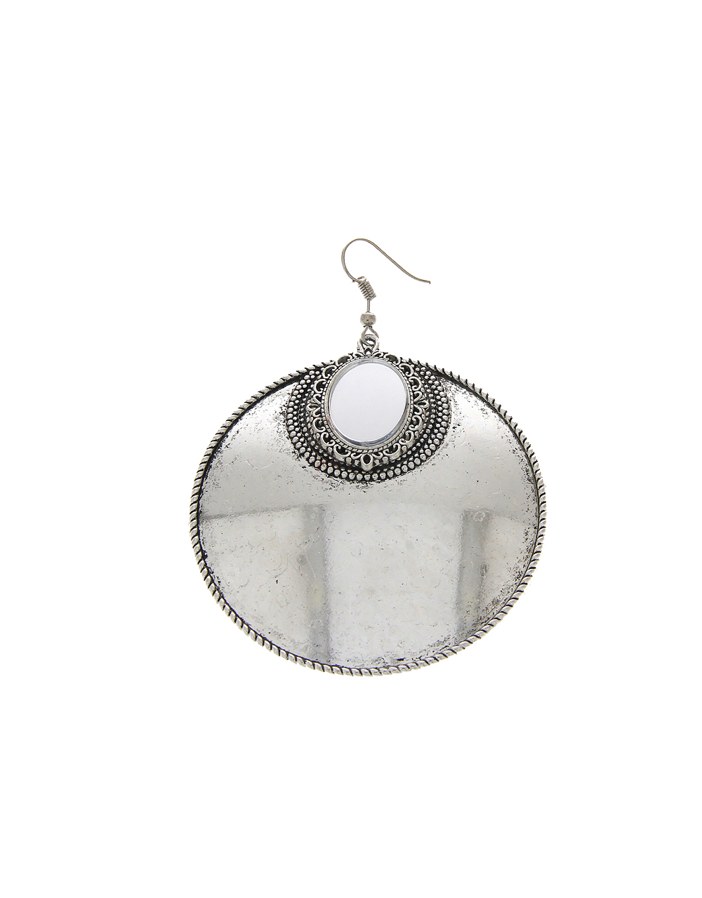 Simple Silver Finish Earring For Girls