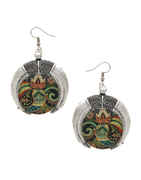 Multi Colour Oxidised Finish Designer Earring