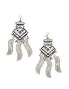 Fashionable Oxidised Finish Earring