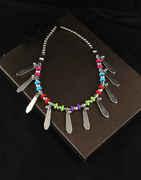 Multi Colour Fancy Navratri Necklace