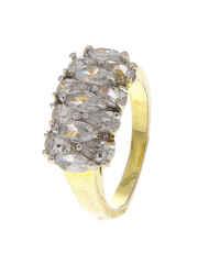 Gold Finish Diamond Finger Ring