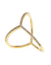Gold Finish Designer Diamond Ring