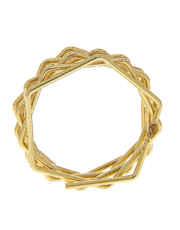 Gold Finish Western Finger Ring