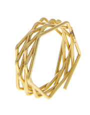 Simple Gold Finish Western Finger Ring