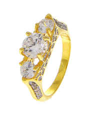 Gold Finish Fashionable Diamond Ring