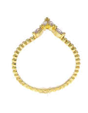 Gold Finish Simple Diamond Ring