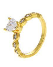 American Diamond Studded Stylish Finger Ring for Girls
