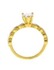 Fashioanble Gold Finish Diamond Finger Ring