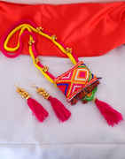 Thread Necklace Jewellery For Garba Festival