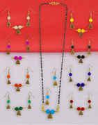 Traditional Fancy Gold Tone Navratri Manglautra