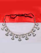 Oxidised Silver Finish Kamarband for Women