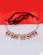 Red Colour Fancy Navratri Kamarband for Women