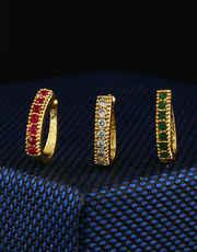 Golden Finish Saniya Mirza Styled Wonderful Studs Nose Pin