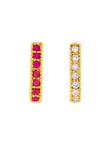 Golden Finish American Diamonds Saniya Styled  Studs Nose Pin