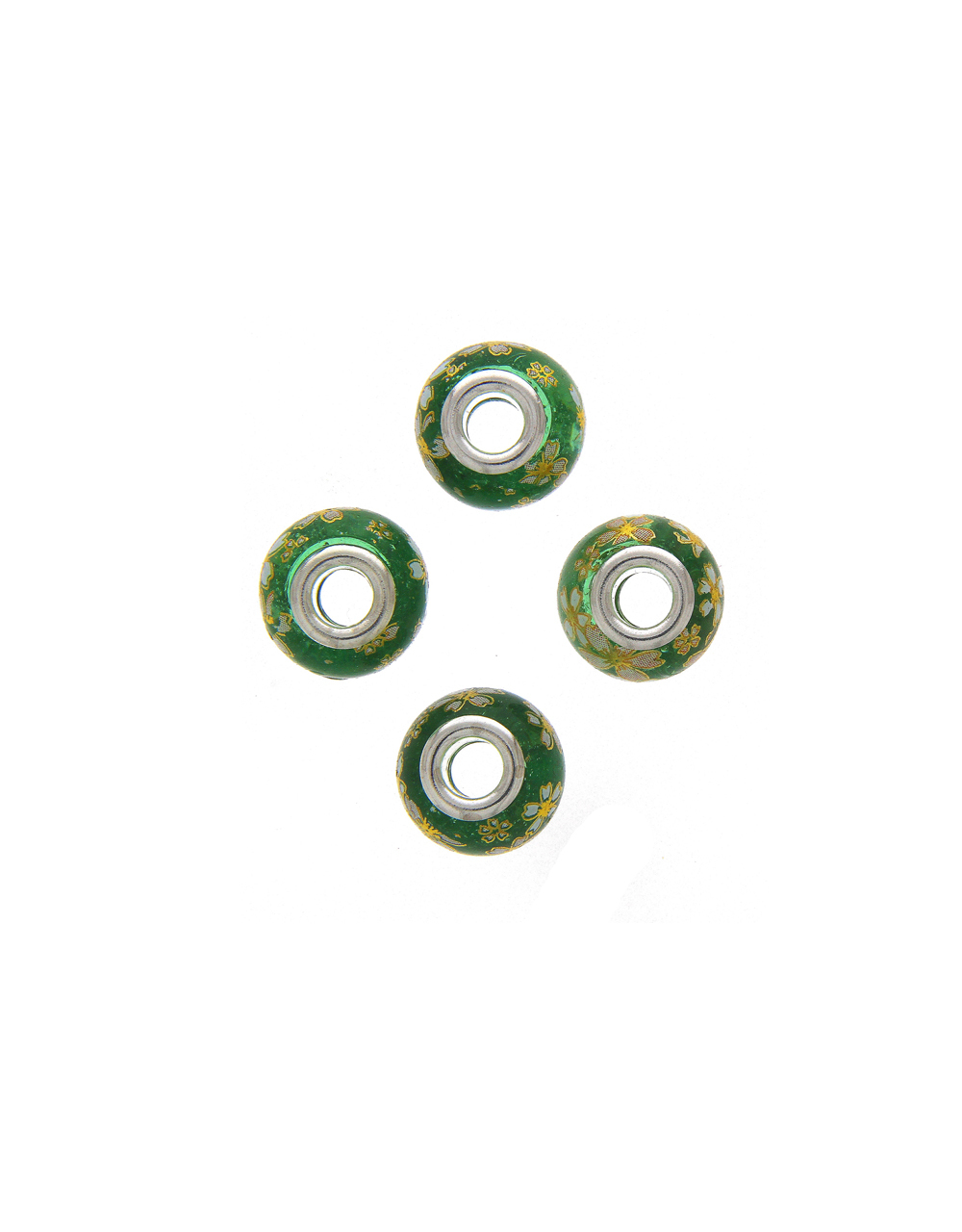 Green Colour Jewellery Making Beads