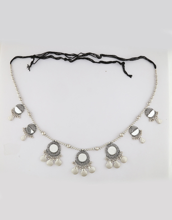 Oxidised Kamarband With Hanging Beads for Women