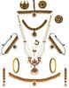 Maroon-Green Combination Bharatnatyan Necklace For Bride