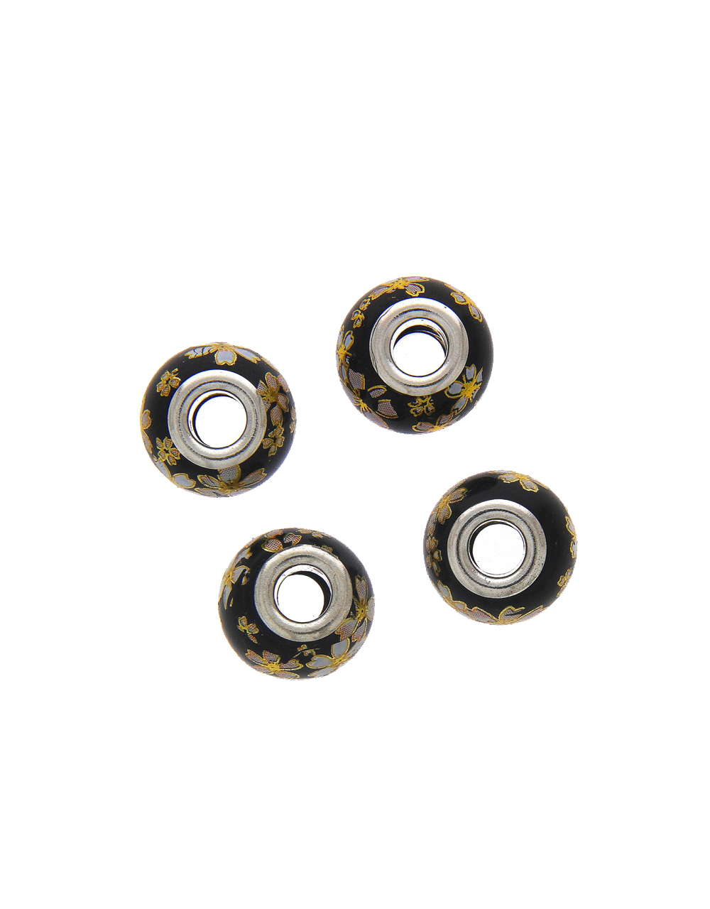 Black Colour Beads For Jewellery Making