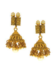 Gold Finish Chokar Necklace For Girls Traditional