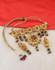 Multi Colour Moti Styled Necklace For Wedding