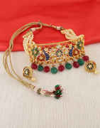 Gold Finish Antique Finish Stylish Necklace
