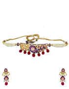 Kundan Necklace Styled With Mina Work Moti Necklace