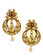 Gold Finish Thread Kundan Necklace Jewellery For Women