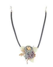 Grey Colour Floral Designer Necklace For Girls
