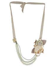 Cream Colour Beads Necklace Jewellery