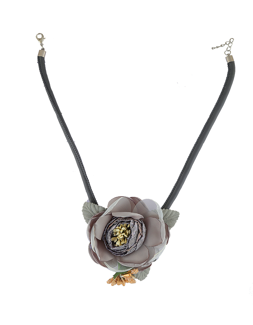 Grey Colour Necklace Jewellery For Girls Fancy