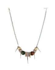 Multi Colour Silver Necklace Jewellery