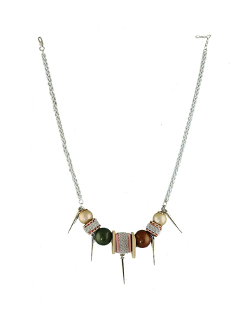 Multi Colour Silver Necklace Jewellery