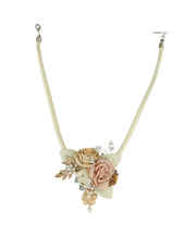Cream Colour Floral Western Necklace for Women