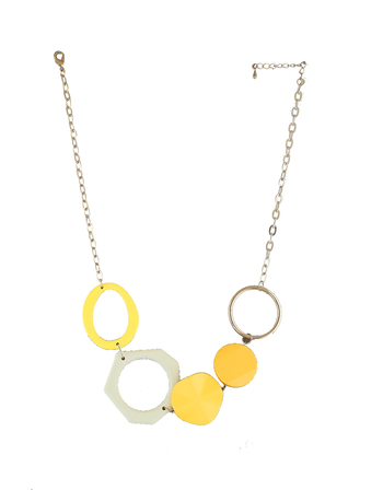 Yellow Colour Gold Finish Necklace Artficial