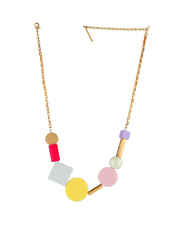 Multi Colour Gold Finish Western Necklace
