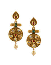 Antique Gold Finish Traditional Necklace Jewellery Set