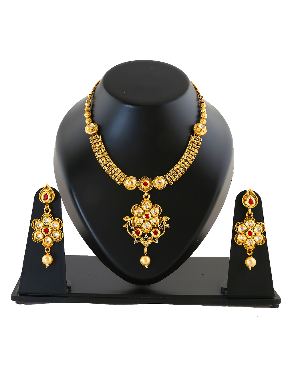 Multi Colour Gold Finish Necklace Jewellery
