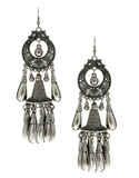 Silver Finish Designer Fancy Earring