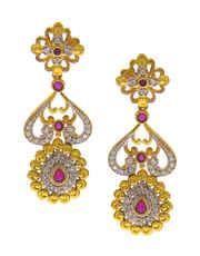 Silver-Gold Combination Very Classy Diamond Jewellery