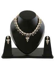 Gold Finish Designer Diamond Necklace For Women