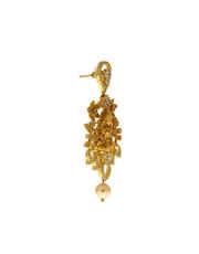 Matte Gold Finish Temple Diamond Necklace Jewellery