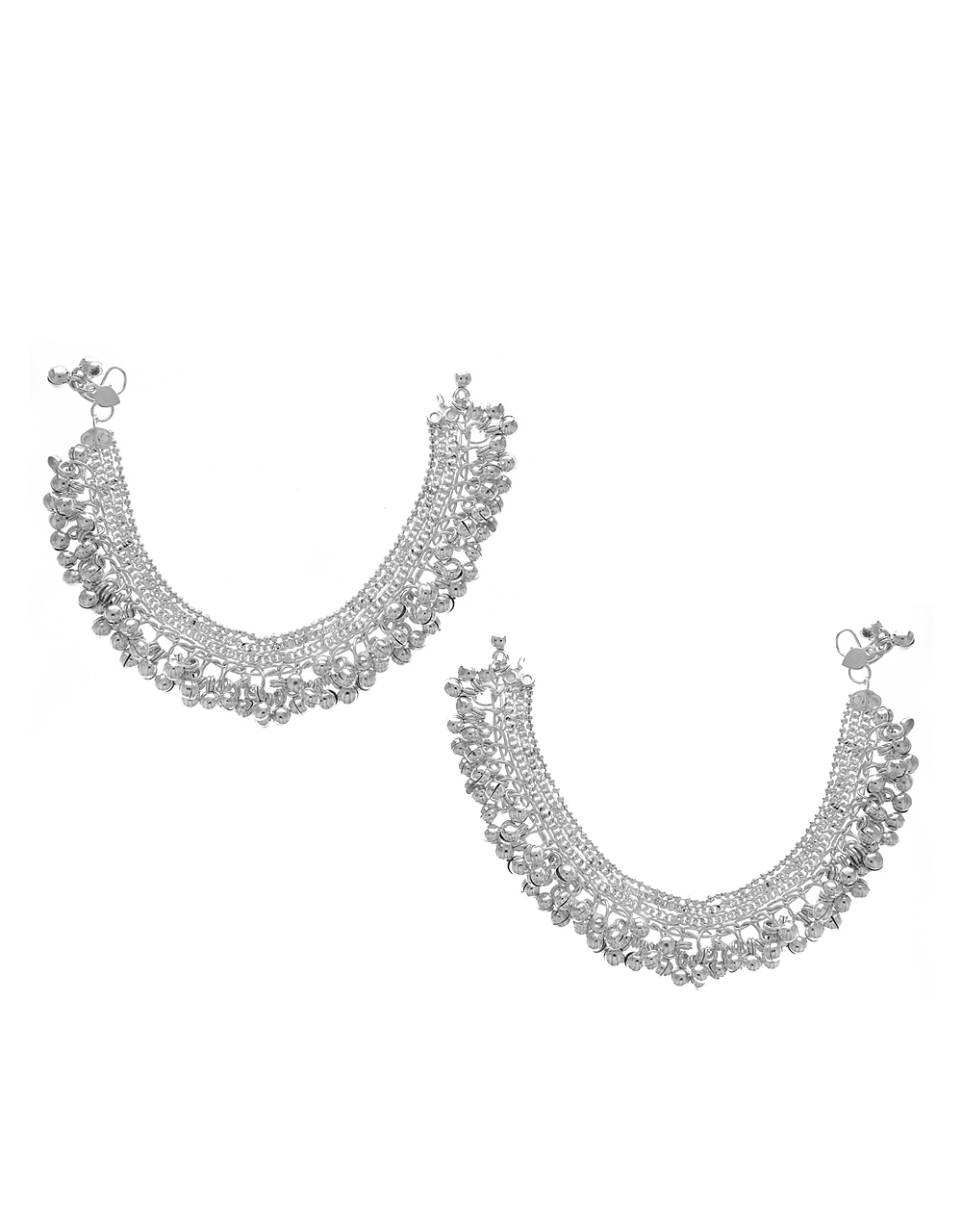 Adorable Silver Finish Payal For Girls