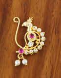 Simple Gold Finish Moti Nath