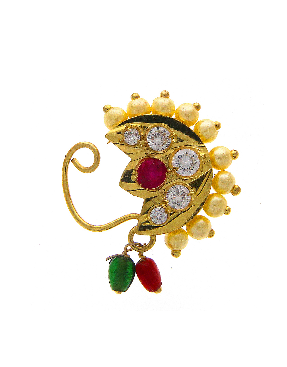 Gold Finish Simple Traditional Nath